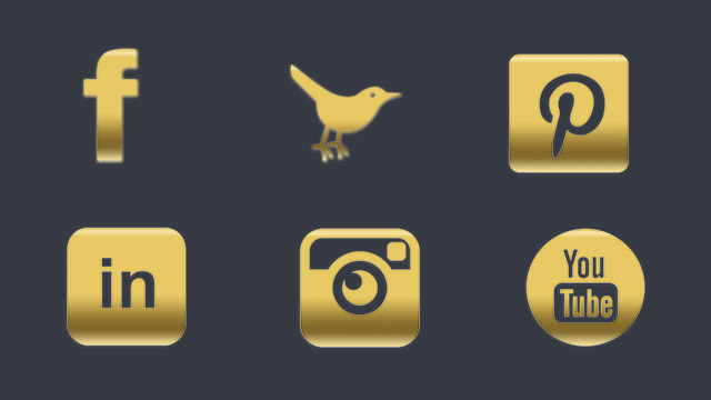 19 FREE Gold Social Media Icons for Your Blog