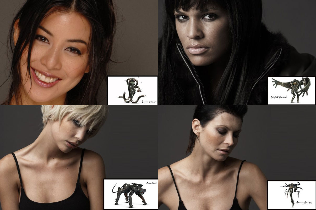 The Four Metal Gear Solid 4 Babes