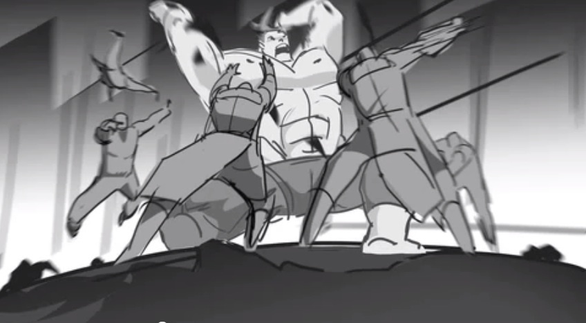 Animatic Storyboards from the Avengers